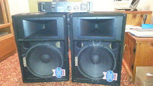 2-Yamaha Monitor Speakers and Amplifier