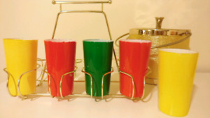 Mid century colourful glasses