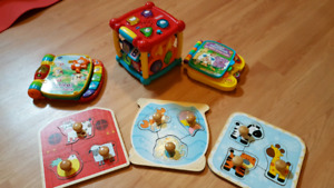 Toys, song books and puzzles