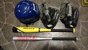 New Bats & Gloves For T-Ball / Little League