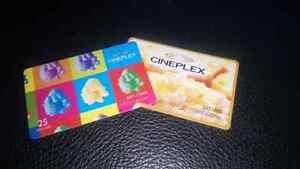Cineplex gift cards Kitchener / Waterloo Kitchener Area image 1
