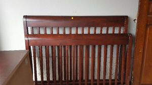 Solid Cherry Double Bed Frame with Matching Dresser