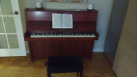 PETROF Piano, tuned & in working condition. Chair included
