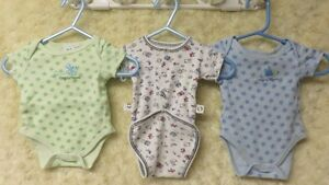 3 Baby Boy Brand Name Onesies Excellent Barely Worn 0-1 Mths