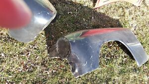 1949 mercury fibreglass front fenders and various parts