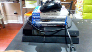 PS4 W/6 games , 1 control,  Premium HDMI cable and accessories