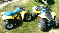PAIR OF SUZUKI LT 80 QUADS