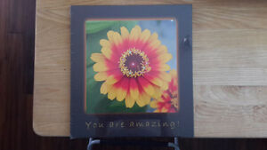 Laminated art with Swarovski accent crystal