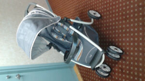 Mint, LUX Safety 1 travel system baby stroller