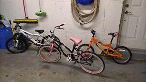 3 kids bikes!!!