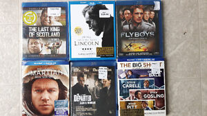 Great BluRay movies (6) at a great price