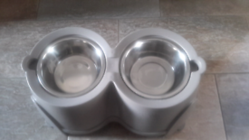 Dog bowls with stand