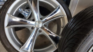 Honda/Toyota/Mazda mags and Tire 225-45-R18 Bolt pattern 5x114.3