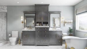 HURRY!!!Get discount on Vanity+counter top & 1 faucet for FREE!!