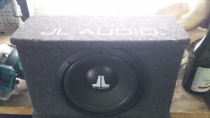 "JL audio 10"" sub and amp"