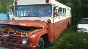 Camperized 1965 Ford school bus.