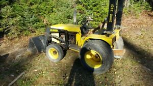 small tractor with bucket