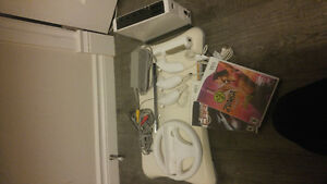 $70 nintendo white wii with accessories