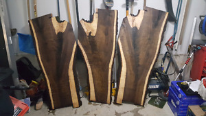 Black walnut slabs live edge