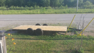 16 ft trailler double axle flat bed