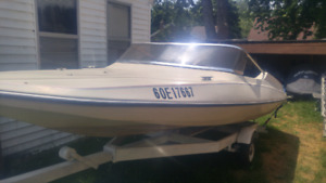 15ft tempest speedboat and trailer