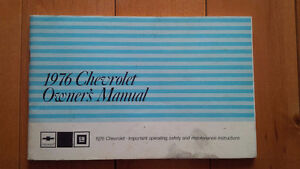 1976 Chevrolet Full Size Owners Manual