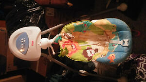 battery operated baby swing