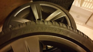 Set of winter tires mounted on OEM BMW rims for sale as is.