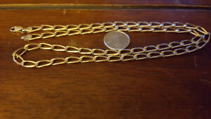 "10k Solid Gold Chain 21"" Long 13.1 Grams *Needs Clasp Ring*"