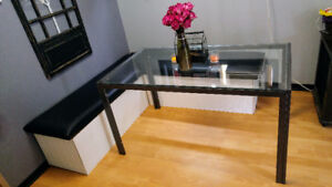 Glass Top, Rectangle Dining Table