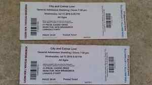 2 City and Colour tickets