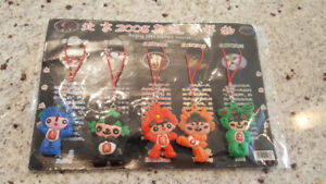 NEW Beijing 2008 Olympic Mascot keychain tags