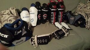 Shin pads, gloves, chest pad, elbow pads$10.00 each item YouthSi