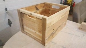 New handmade wooden crate