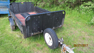 SNOW BEAR UTILITY TRAILER WITH MOTORCYCLE CHALK