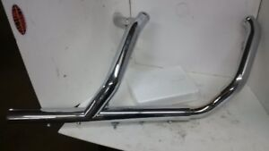 Harley FLH OEM Stock head pipes and heat shields - new take off