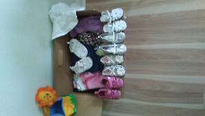 Girl 12 to 18 m spring and summer clothing lot plus shoes