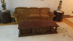 Couch Set With Chair,Two( 2)-Side Tables & One(1) - Coffee Table