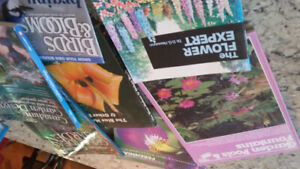 Books gardening and vintage shorthand