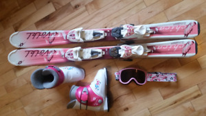 Girls ski set up. Ages 4-6