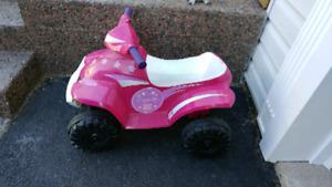Kids pink battery powered ATV