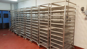 Commercial or Restaurant Stainless steel food Racks with trays