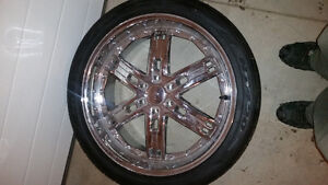 24' rims and rubber