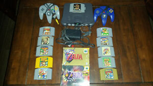 Nintendo 64 system and game lot
