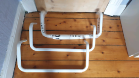 3 ikea wall clothes rail
