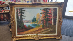"Bowman Oil Painting  "" Haliburton """