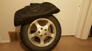 BLIZZAK WS60-225/55R16 95R Winter Tires & Rims Balanced Strathcona County Edmonton Area image 1
