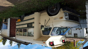 Converted bus into camper