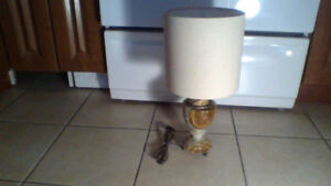 Solid Marble n Brass Lamp (Antique) $50 WOW!