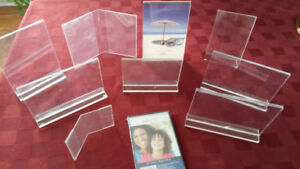 Picture Frames - 10 acrylic/plastic frames and 3 brass frames